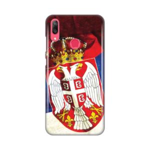 Maska Silikonska Print Skin za Huawei Y7 2019/Y7Prime 2019 Srb Zastava