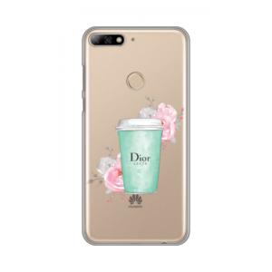 Maska Silikonska print skin za Huawei Y7 Prime 2018 Dior Latte