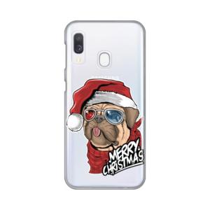 Maska Silikonska Print Skin za Samsung A202F Galaxy A20e Christmas Pug