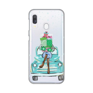 Maska Silikonska Print Skin za Samsung A202F Galaxy A20e Christmas Ride