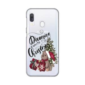 Maska Silikonska Print Skin za Samsung A202F Galaxy A20e White Christmas