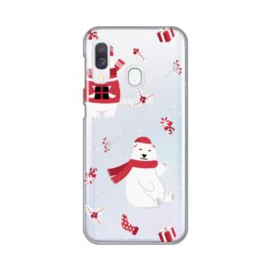 Maska Silikonska Print Skin za Samsung A202F Galaxy A20e Winter Bears