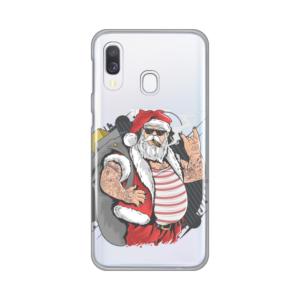 Maska Silikonska Print Skin za Samsung A405F Galaxy A40 Bad Santa