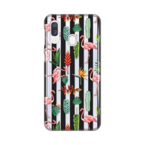 Maska Silikonska Print Skin za Samsung A405F Galaxy A40 Flamingo Leaves Flowers