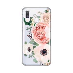 Maska Silikonska Print Skin za Samsung A405F Galaxy A40 Luxury Pink Flowers