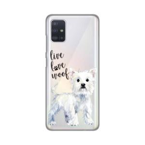 Maska Silikonska Print Skin za Samsung A515F Galaxy A51 Live Love Woof
