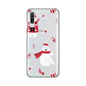 Maska Silikonska Print Skin za Samsung A705F Galaxy A70 Winter Bears
