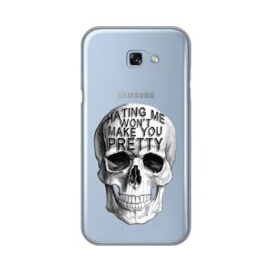 Maska Silikonska Print Skin za Samsung A720F Galaxy A7 2017 Hating Me Skull
