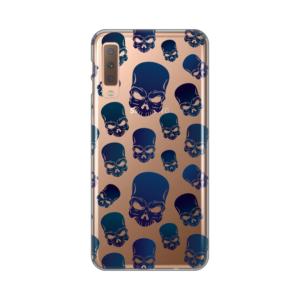 Maska silikonska Print Skin za Samsung A750F Galaxy A7 2018 Blue Skulls