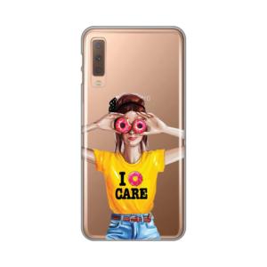Maska silikonska Print Skin za Samsung A750F Galaxy A7 2018 Donut Panic