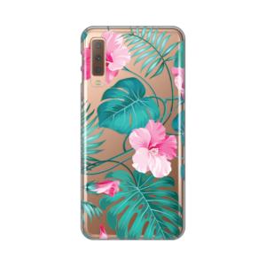 Maska Silikonska Print Skin za Samsung A750FN Galaxy A7 2018 Tropical Florals