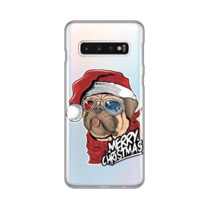 Maska Silikonska Print Skin za Samsung G973 S10 Christmas Pug