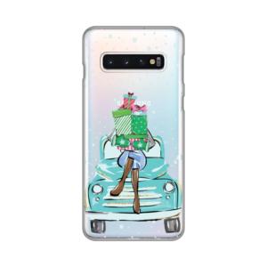 Maska Silikonska Print Skin za Samsung G973 S10 Christmas Ride
