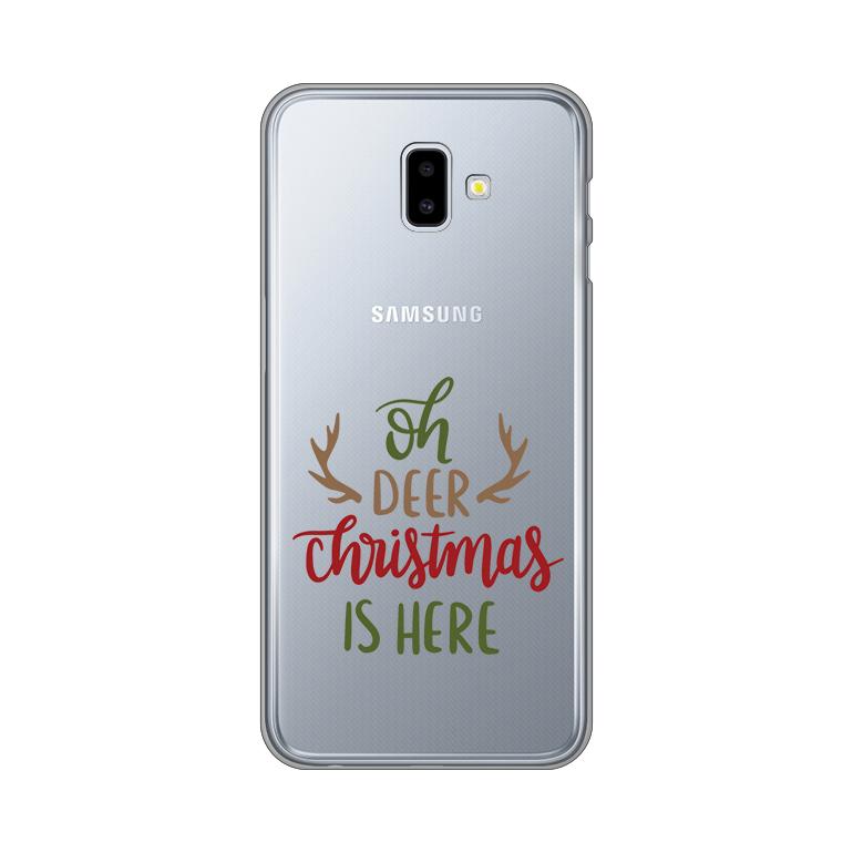 Maska Silikonska Print Skin za Samsung J610F Galaxy J6 Plus Oh Deer Christmas Is Here