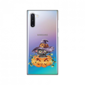 Maska Silikonska Print Skin za Samsung N970F Galaxy Note 10 Black Witch Cat