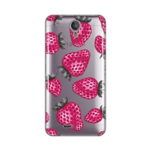 Maska Silikonska Print Skin Za Tesla Smartphone 6.2 Pink Strawberry Pattern
