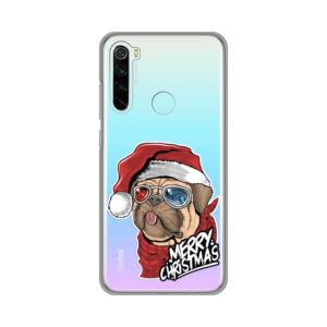Maska Silikonska Print Skin za Xiaomi Redmi Note 8 Christmas Pug