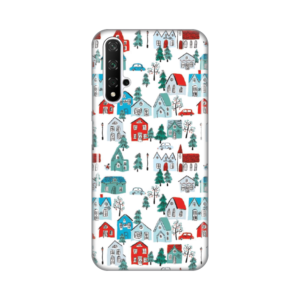 Maska Silikonska Print za Huawei Honor 20/Nova 5T Winter House Pattern