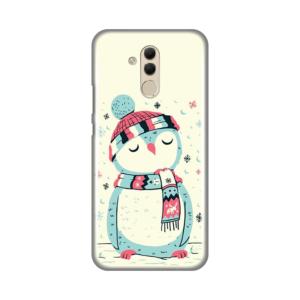Maska Silikonska Print za Huawei Mate 20 Lite Christmas Owl