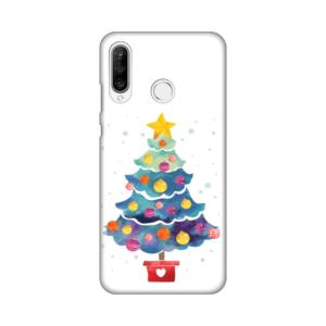 Maska Silikonska Print za Huawei P30 Lite Christmas Tree