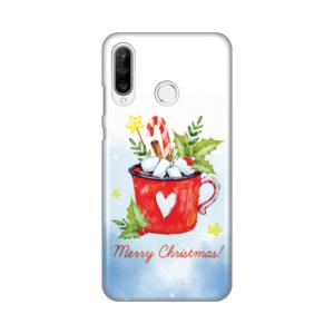 Maska Silikonska Print za Huawei P30 Lite Merry Christmas