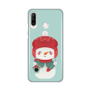 Maska Silikonska Print za Huawei P30 Lite Snowman