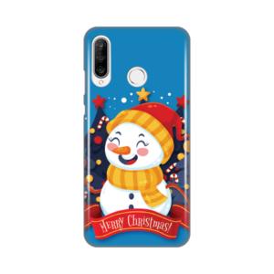 Maska Silikonska Print za Huawei P30 Lite Snowman Merry Christmas