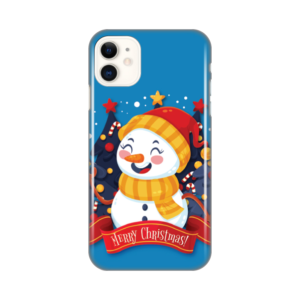 Maska Silikonska Print za iPhone 11 6.1 Snowman Merry Christmas