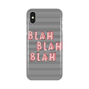 Maska silikonska Print za iPhone X Blah Stripes
