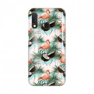 Maska Silikonska Print za Samsung A202F Galaxy A20E Flamingo On Coconut