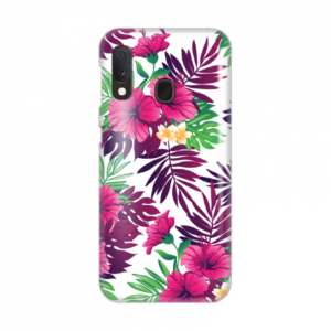Maska Silikonska Print za Samsung A202F Galaxy A20E Pink Tropical Flowers
