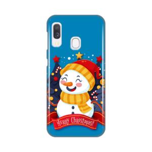 Maska Silikonska Print za Samsung A202F Galaxy A20e Snowman Merry Christmas