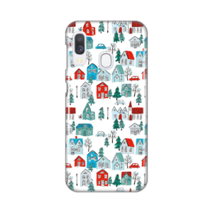 Maska Silikonska Print za Samsung A202F Galaxy A20e Winter House Pattern