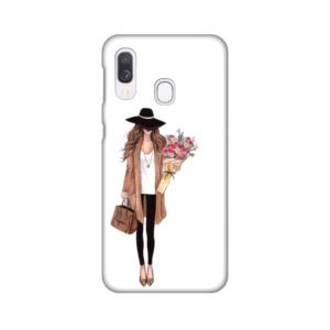 Maska Silikonska Print za Samsung A405F Galaxy A40 Autumn Fashion Girl