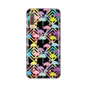 Maska Silikonska Print za Samsung A750F Galaxy A7 2018 Black Flamingos