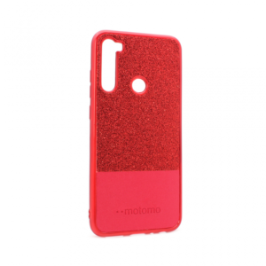 Maska Sparkle Half za Xiaomi Redmi Note 8 crvena