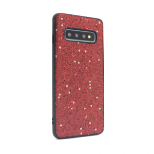Maska Sparkle Shiny za Samsung G973 S10 crvena