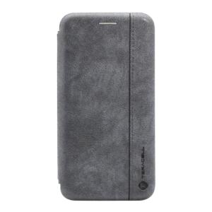 Maska Teracell Leather za Huawei Y6 2019/Honor 8A siva