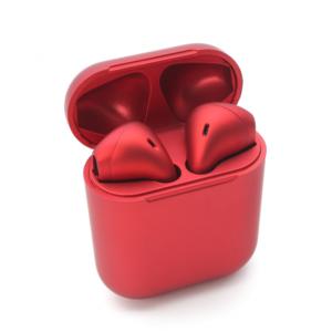 Bluetooth slusalice Inpods metalik crvene