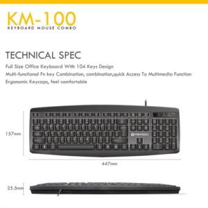Combo Fantech KM-100 crna