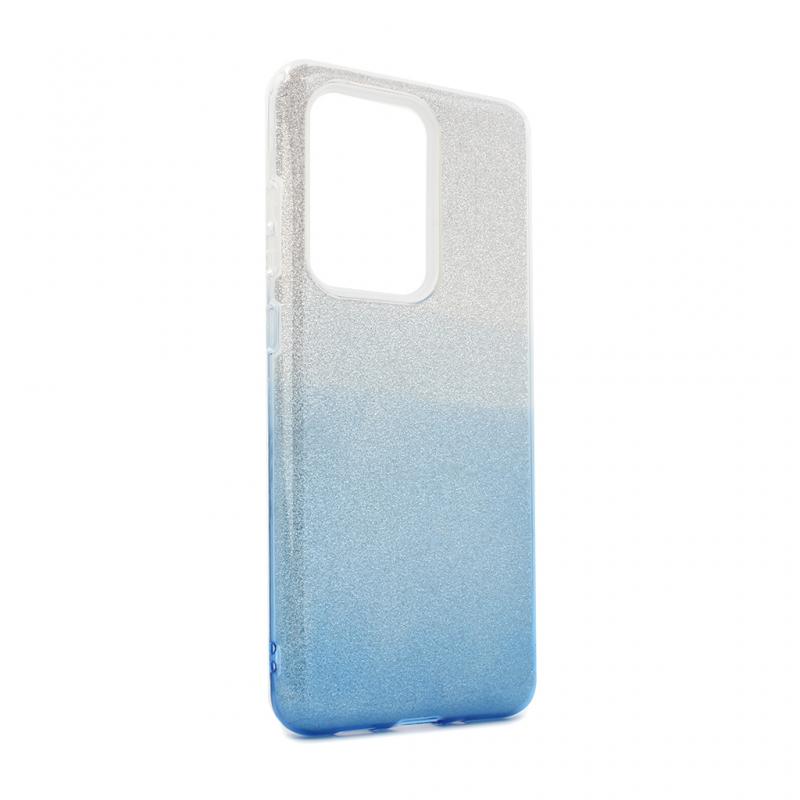 Maska Double Crystal Dust za Samsung G988F Galaxy S20 Ultra plavo srebrna
