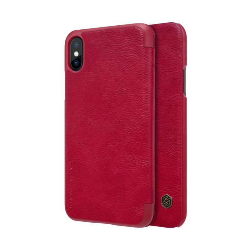 Maska Nillkin Qin za iPhone X/XS crvena