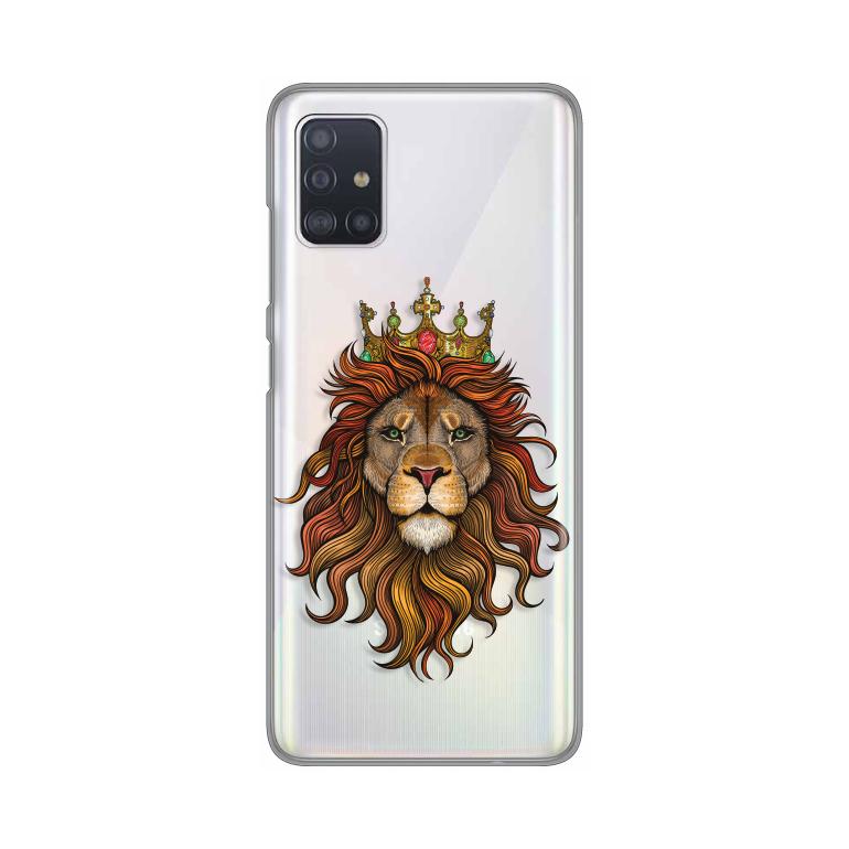 Maska Silikonska Print Skin za Samsung A515F Galaxy A51 Lion With a Crown