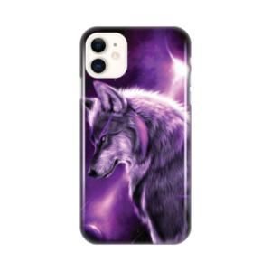 Maska Silikonska Print za iPhone 11 6.1 Purple Wolf
