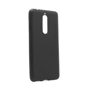 Maska Leather Look za Nokia 5.1 2018 crna