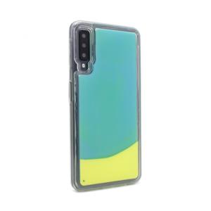 Maska Liquid color za Samsung A750FN Galaxy A7 2018 svetlo plavo-zuta