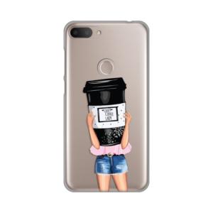 Maska Silikonska Print Skin za Alcatel 1S 2019/5024D Crazy Coffee Lady