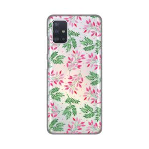 Maska Silikonska Print Skin za Samsung A515F Galaxy A51 Green Pink Leaves