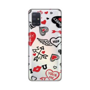 Maska Silikonska Print Skin za Samsung A515F Galaxy A51 Hand Drawn Hearts