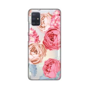 Maska Silikonska Print Skin za Samsung A515F Galaxy A51 Pink Flowers